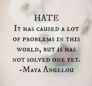 Hate-It-has-caused-a-lot of problems quote by Maya Angelou